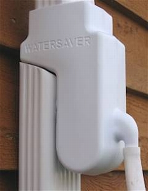 Watersaver Diverter mounted on down pipe